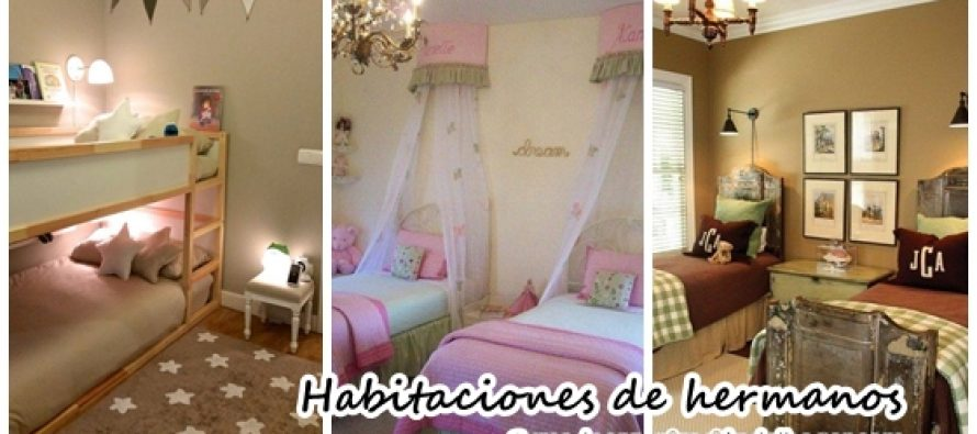 Ideas para decorar cuartos de hermanos