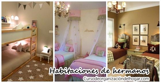 Ideas para decorar cuartos de hermanos - Curso de Organizacion del ...