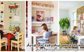 Ideas para diseñar un area de estudio para tus hijos