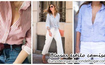 Outfits con blusas estilo camisa