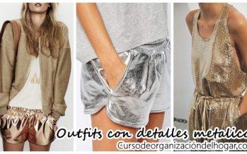 Outfits con detalles metalicos