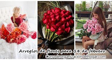 Arreglos de flores para 14 de febrero