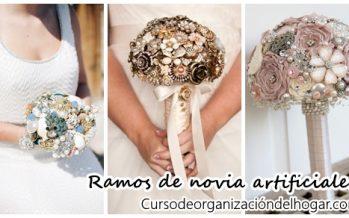 Bouquets o ramos para novia artificiales