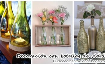 Decoración con botellas de vidrio – DIY