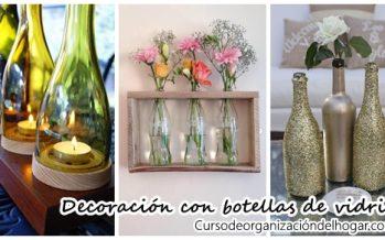 Decoración con botellas de vidrio – DIY