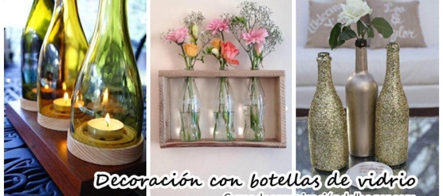 Decoraci n con botellas de vidrio diy curso de organizacion del hogar y decoracion de interiores - Decorar con botellas ...