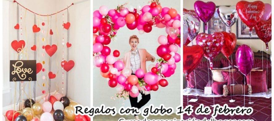 Decoración con globo para 14 de febrero