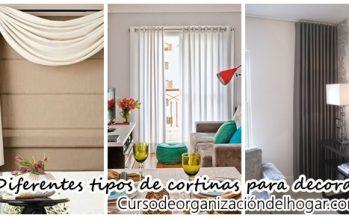 Diferentes tipos de cortinas para decorar tu casa