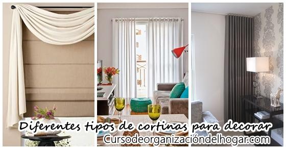 Diferentes tipos de cortinas para decorar tu casa curso de organizacion del hogar y decoracion - Diferentes tipos de cortinas ...
