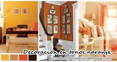 Ideas para decorar en tonos naranja