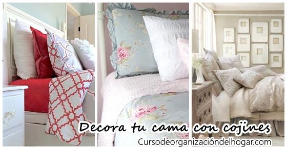 Ideas para decorar tu cama con cojines 43 curso de - Decorar cama con cojines ...