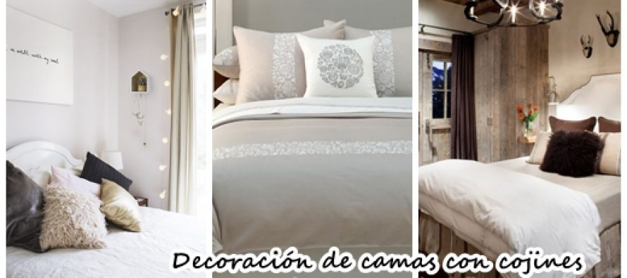 Ideas para decorar tu cama con cojines