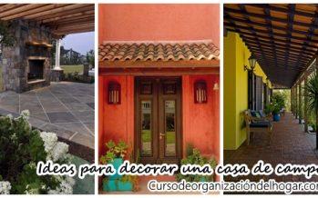 Ideas para decorar una casa de campo ¡Se verá genial!