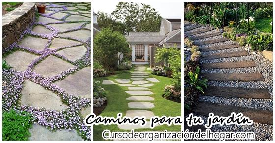 Ideas para hacer caminos en jard n f cilmente curso de for Caminos de jardines rusticos