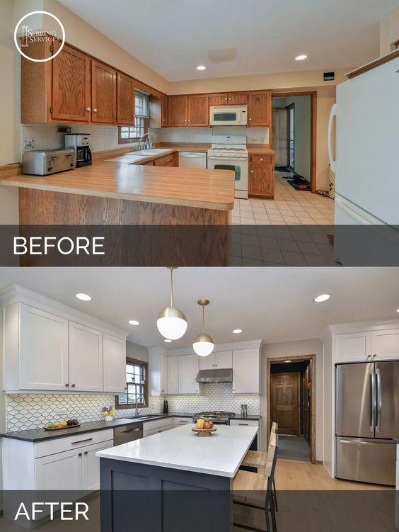 Ideas para remodelaci n de cocinas antes y despues 11 for Remodelacion banos y cocinas