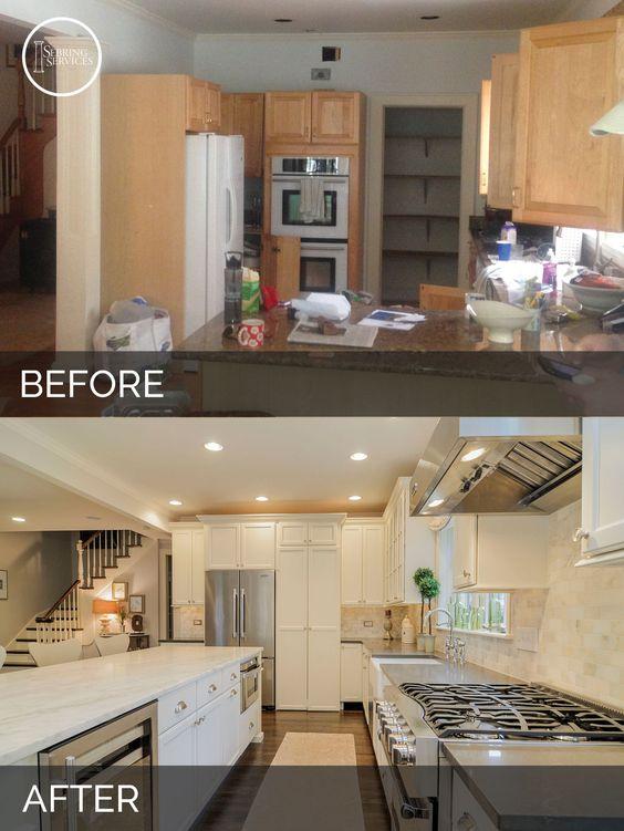 Ideas para remodelaci n de cocinas antes y despues 14 for Remodelacion de cocinas