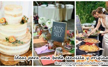 Ideas para una boda sencilla y original