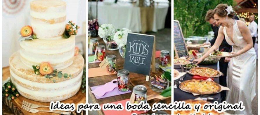 Ideas para una boda sencilla y original curso de for Cena original y sencilla