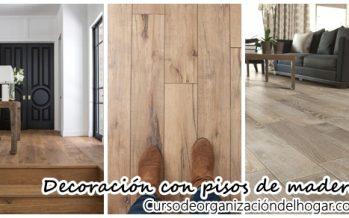 Interiores con pisos de madera