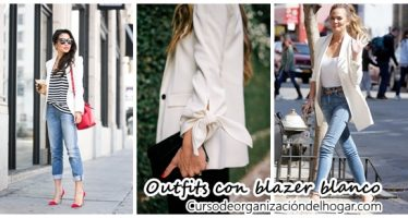 Outfits con blazer blanco