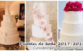 Pasteles de boda 2017-2018