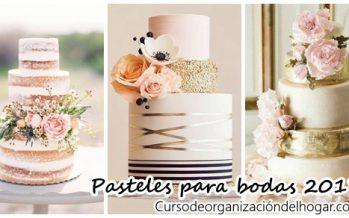 Pasteles para bodas 2017