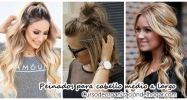 Peinados para cabello medio a largo fáciles de hacer