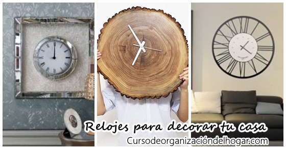 Relojes de pared originales para decorar curso de organizacion del hogar y decoracion de - Relojes de decoracion ...