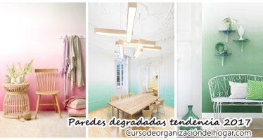 Tendencia en decoración de interiores paredes degradadas