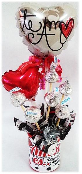 arreglosconglobos y chocolatespara14 de febrero