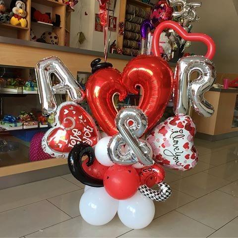 decoracion con globo para 14 de febrero