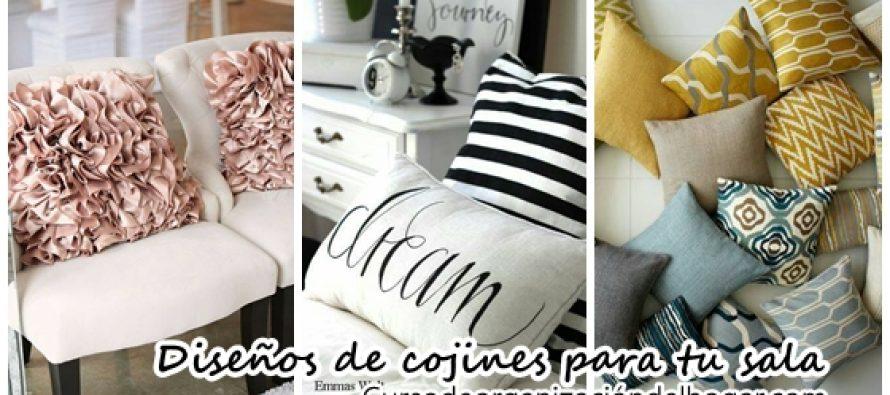Cojines decorativos ideales para tu sala de estar