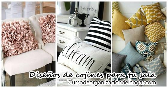 Cojines decorativos ideales para tu sala de estar curso de organizacion del hogar y decoracion - Diseno de cojines para sala ...