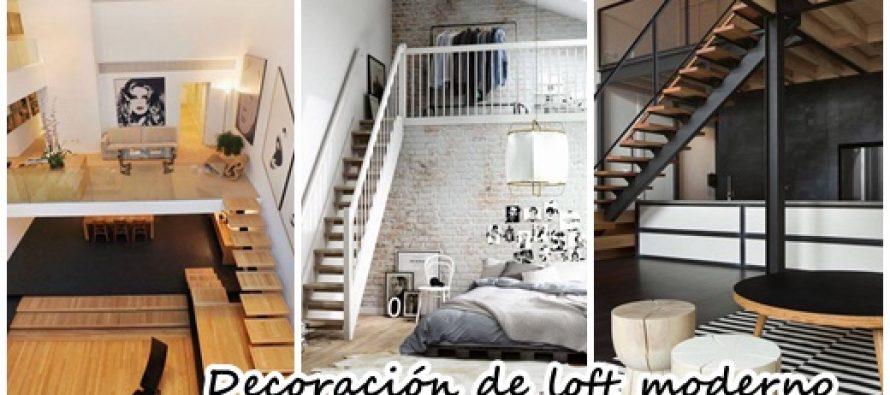 Decoración de loft moderno