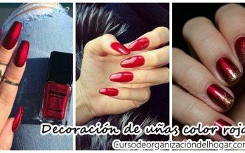 Decoración de uñas con tonos rojos ideales para esta temporada