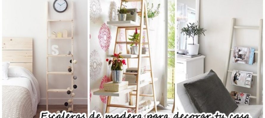 Escaleras de madera como accesorios decorativos 2017 for Accesorios decorativos salon