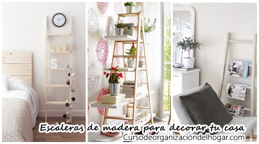 Escaleras de madera como accesorios decorativos 2017 for Accesorios decorativos