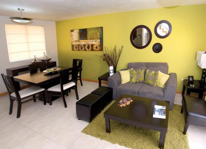 Hermosa decoraci n de salas color gris con amarillo 21 for Decoracion hogar gris