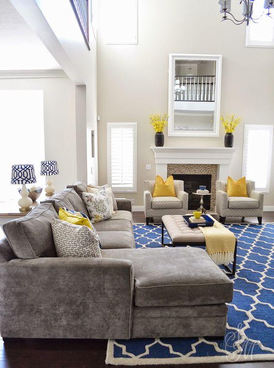 Hermosa decoraci n de salas color gris con amarillo 29 for Decoracion de salas en gris y amarillo