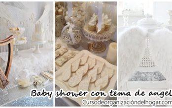 Ideas para baby shower con tema de angel