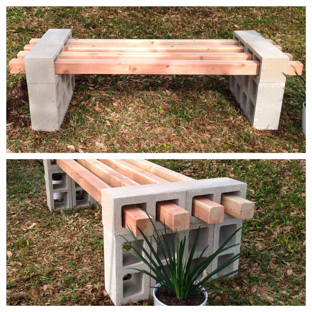 Muebles para exterior hechos con bloques 8 curso de - Muebles para exterior ...