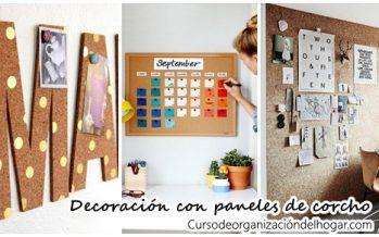Organiza y decora tu casa con paneles de corcho