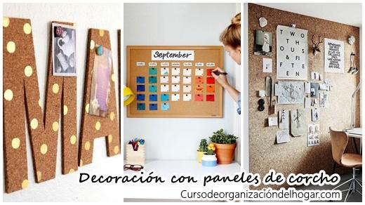 Organiza y decora tu casa con paneles de corcho curso de - Planchas de corcho para revestir paredes ...