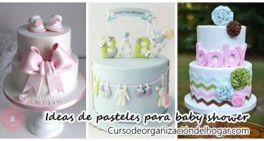 Pasteles originales para baby shower