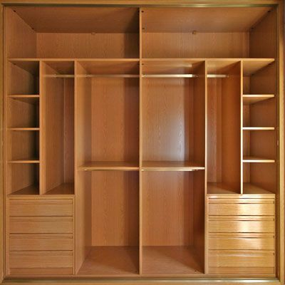 19 ideas de closets de madera para que te los haga el for Disenos de closets sencillos
