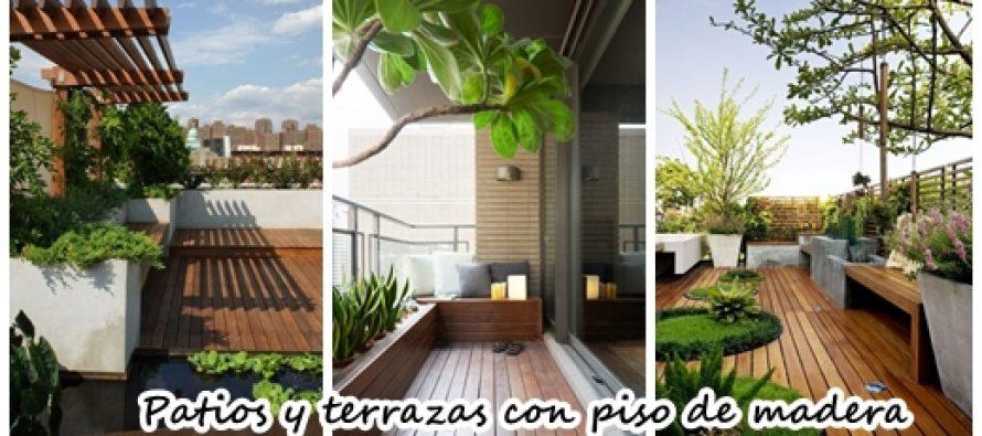 20 patios y terrazas con piso de madera ¡Increibles!