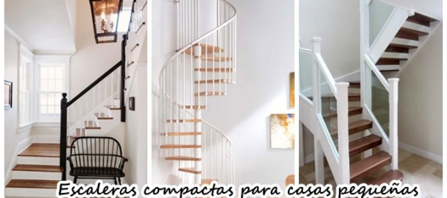 21 escaleras compactas y perfectas para casas peque as for Decoracion para pared de escaleras