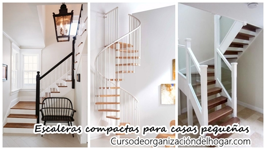 21 escaleras compactas y perfectas para casas peque as for Pequena escalera de madera exterior