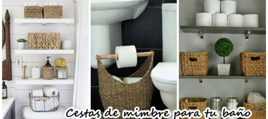 23 cestas de mimbre para organizar el ba o curso de - Muebles de mimbre para bano ...