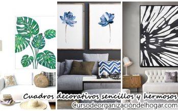 24 cuadros decorativos sencillos y hermosos que necesitan estar en tu hogar